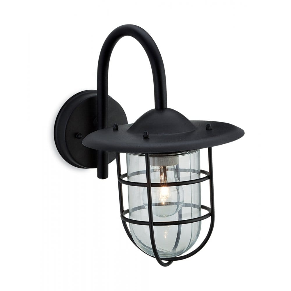 Firstlight Cage Single Light Outdoor Wall Fitting In Black