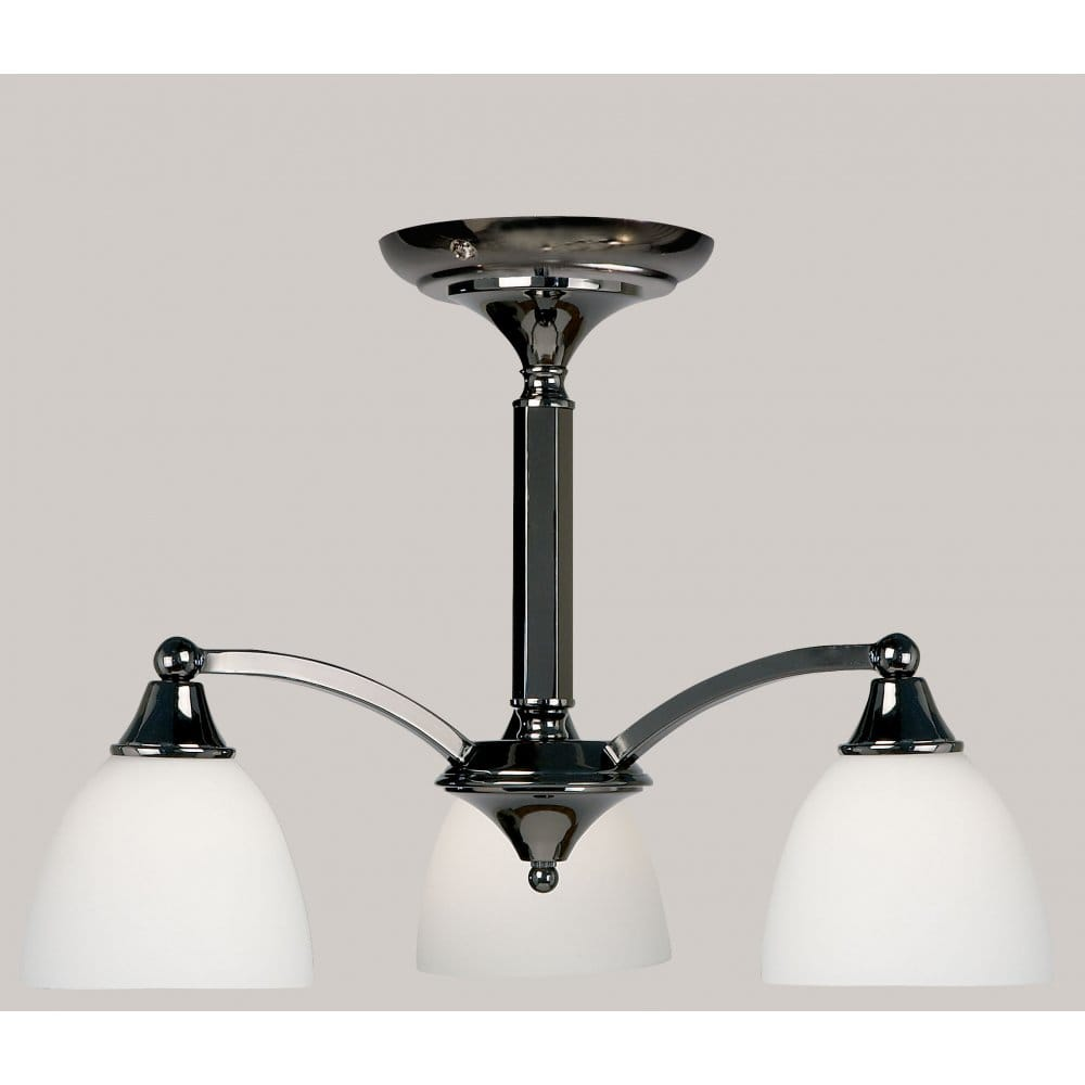 Dark Chrome Ceiling Lights : Endon lighting elegant light ceiling fitting in black