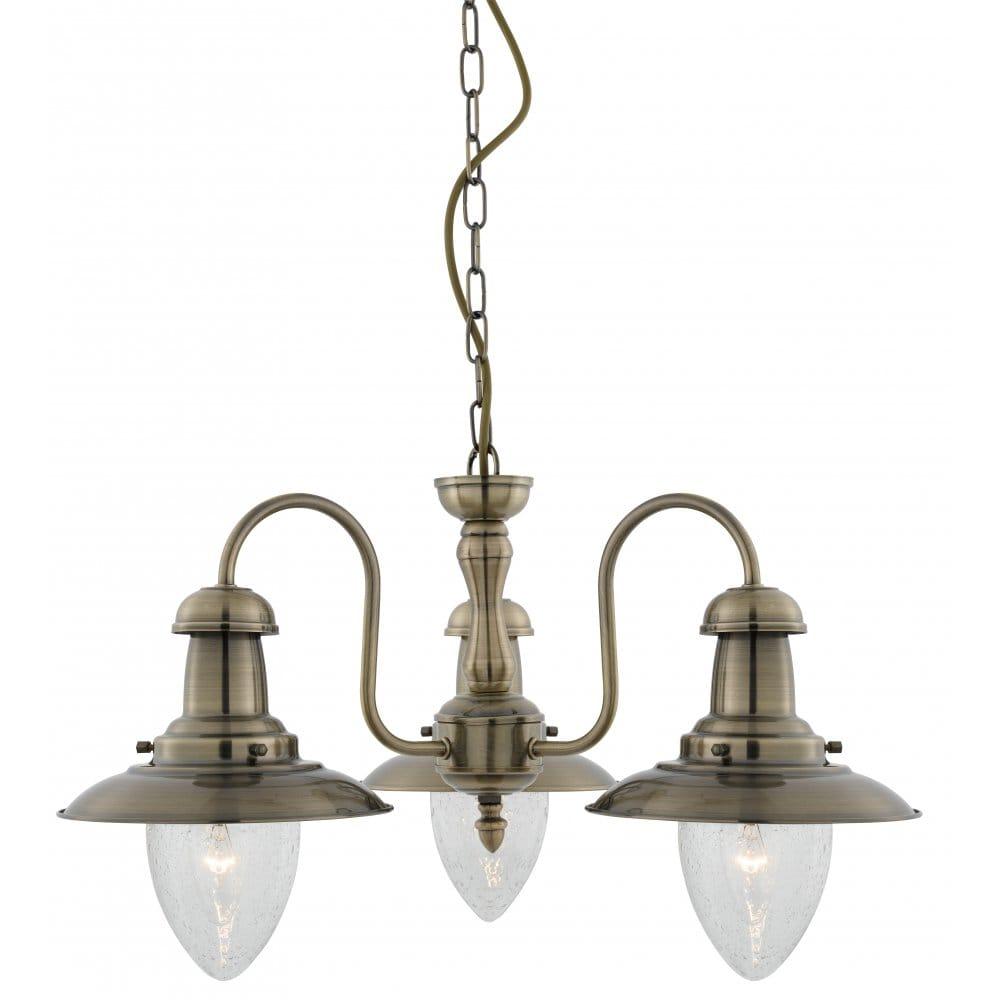 Brass Finish Ceiling Lights : Searchlight lighting fisherman light ceiling pendant in