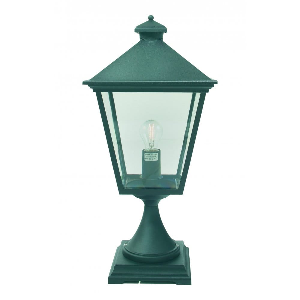 Cheltenham Cast Pedestal Lantern Light Black: Elstead Lighting Turin Grande Single Light Outdoor