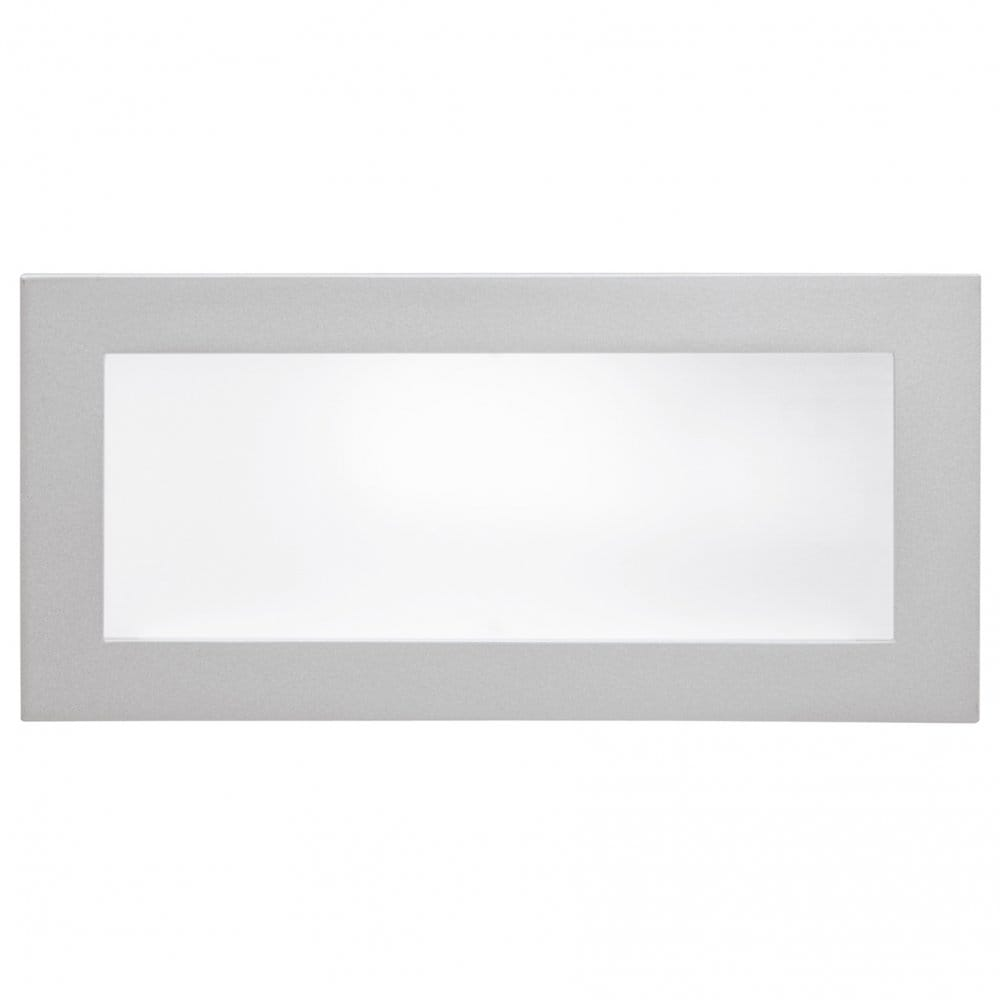 Wall Light Switch Remote Control : Eglo Lighting Glenn Single Light Rectangular Recessed Wall Light with Silver Finish - Eglo ...