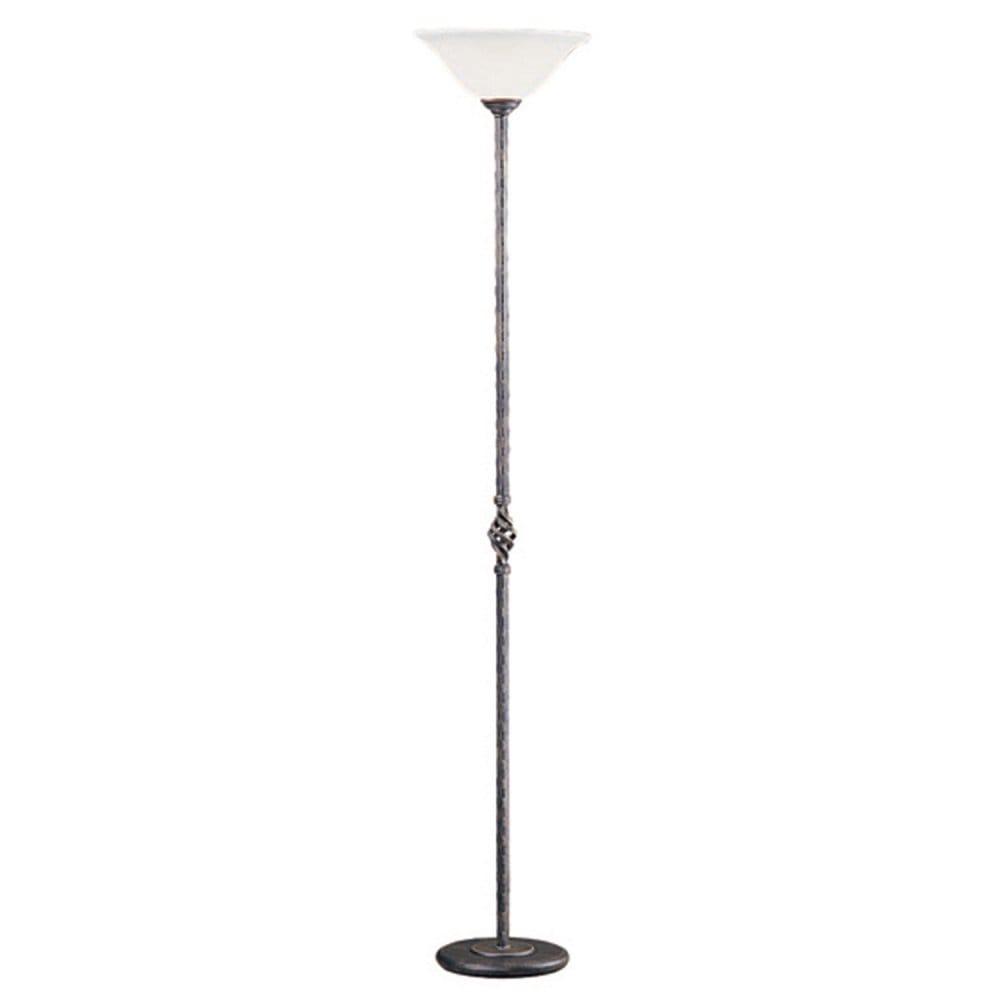 Elstead lighting pembroke single light floor lamp for Uplighter single floor lamp