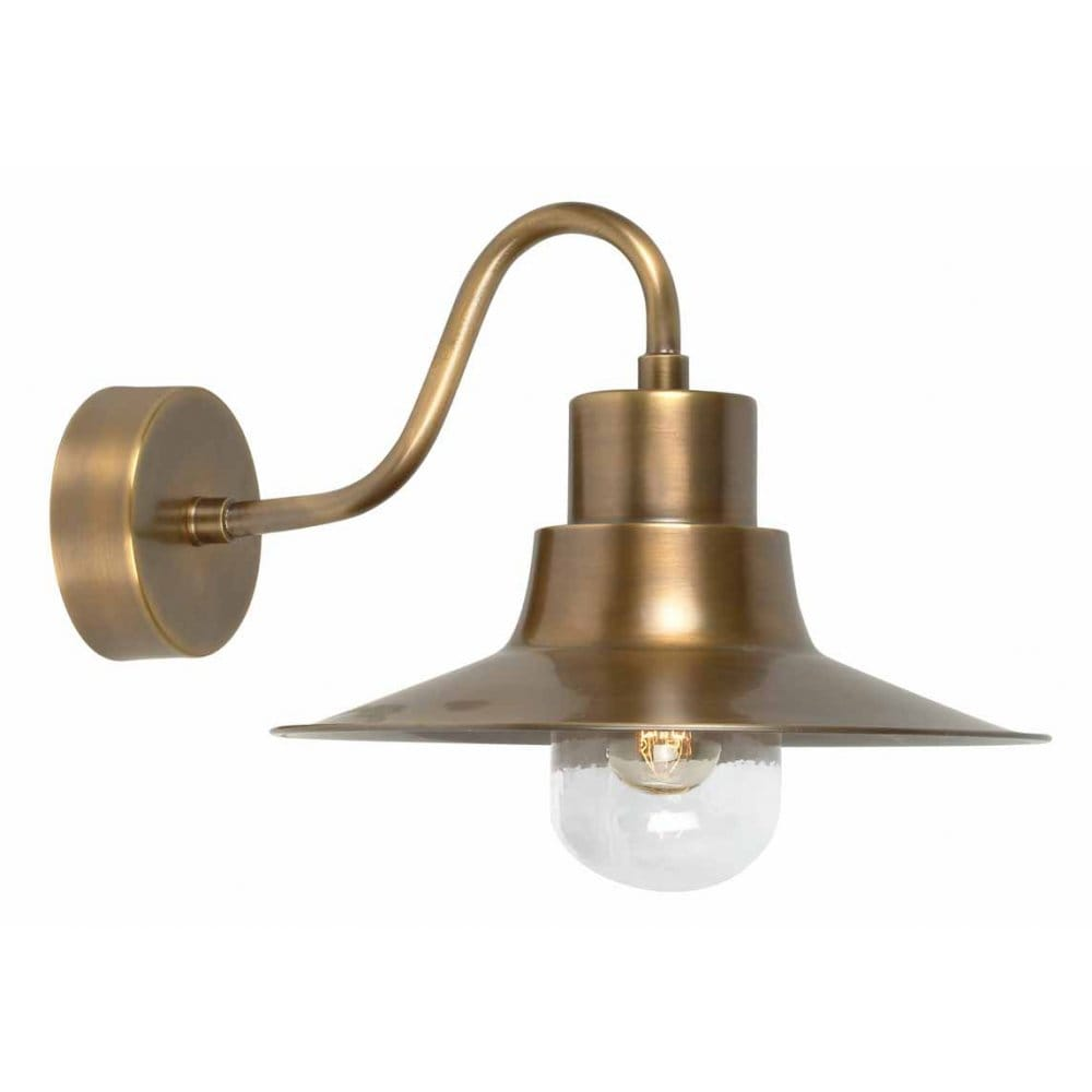 Fitting Outside Wall Lights : Elstead Lighting Sheldon Single Light Solid Brass Outdoor Wall Fitting in a Bronze Finish ...