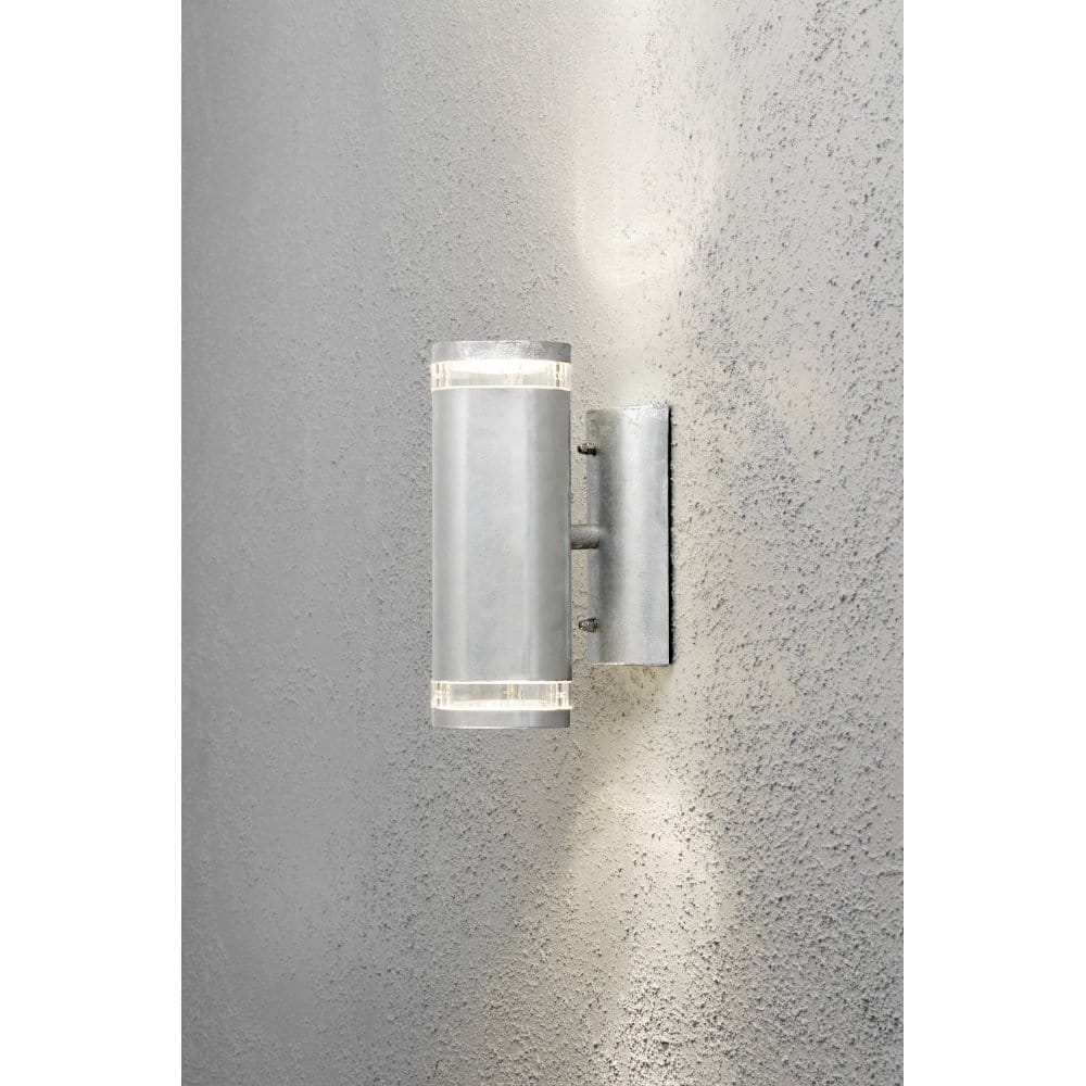 Halogen Exterior Wall Lights : Konstsmide Modena 2 Light Halogen Exterior Galvanised Wall Fitting - Konstsmide from Castlegate ...