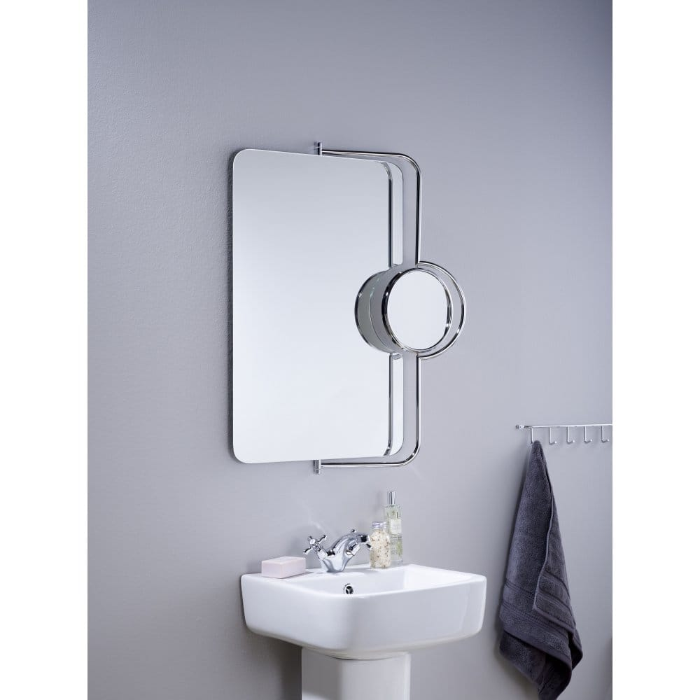 Endon lighting petelas rectangular bathroom magnifying Polished chrome bathroom mirrors