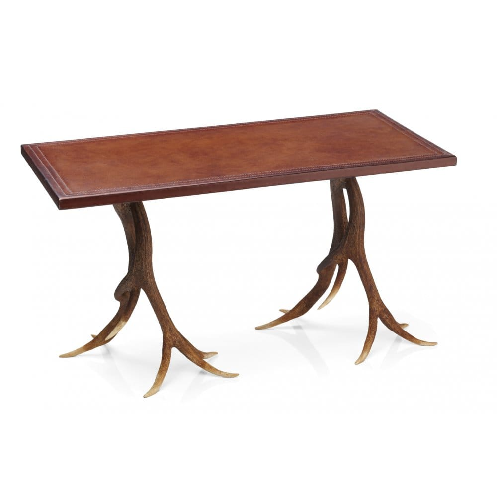 David Hunt Lighting Antler Coffee Table Handpainted With Rustic Highland Colouring David Hunt