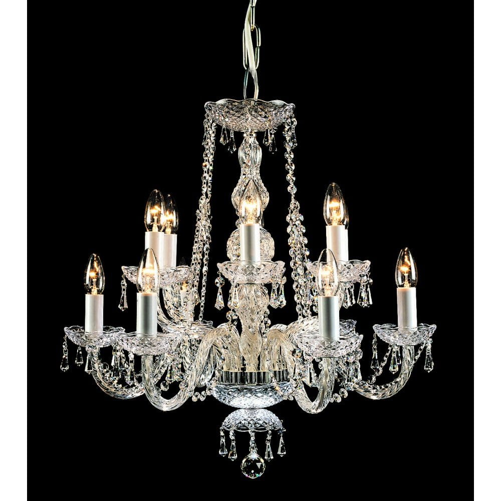 Impex Lighting Modra 12 Light Georgian Style Crystal Chandelier Fitting With Strass Crystal