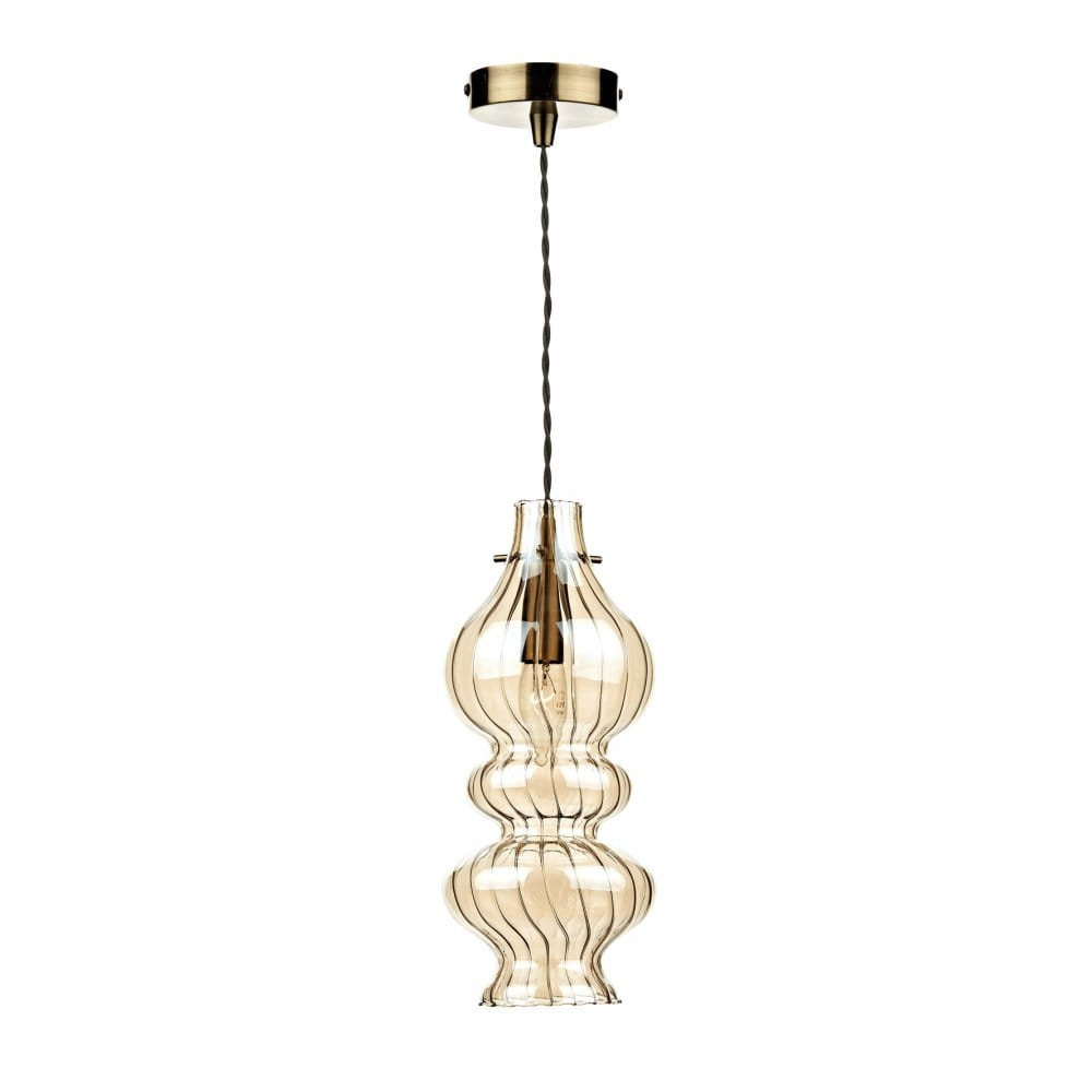 light ceiling pendant with hand blown champagne glass dar lighting