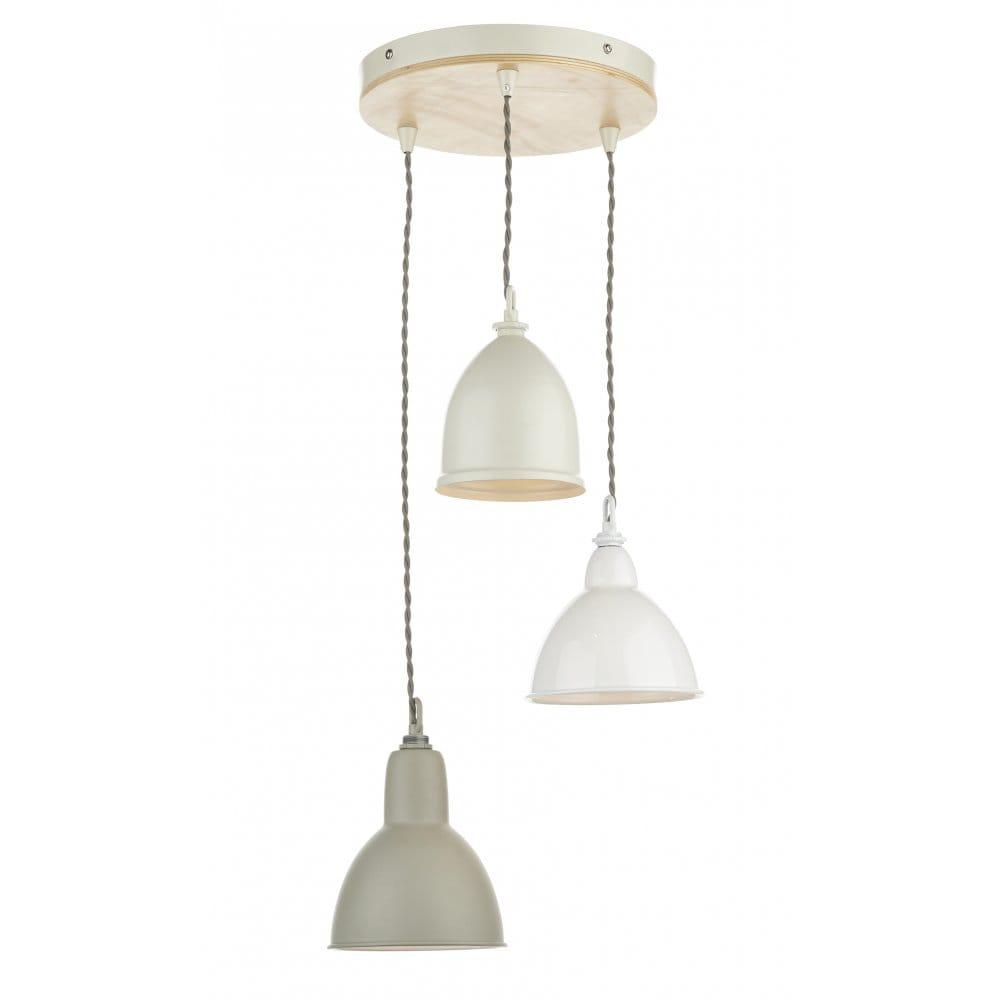 Dar Lighting Blyton 3 Light Ceiling Pendant Wood Detail