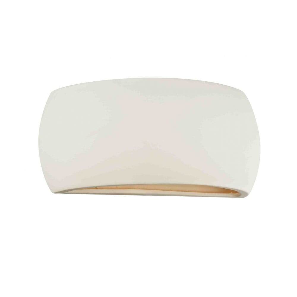 Dar Lighting Ovo Single Light Ceramic Wall Washer - Dar Lighting from Castlegate Lights UK