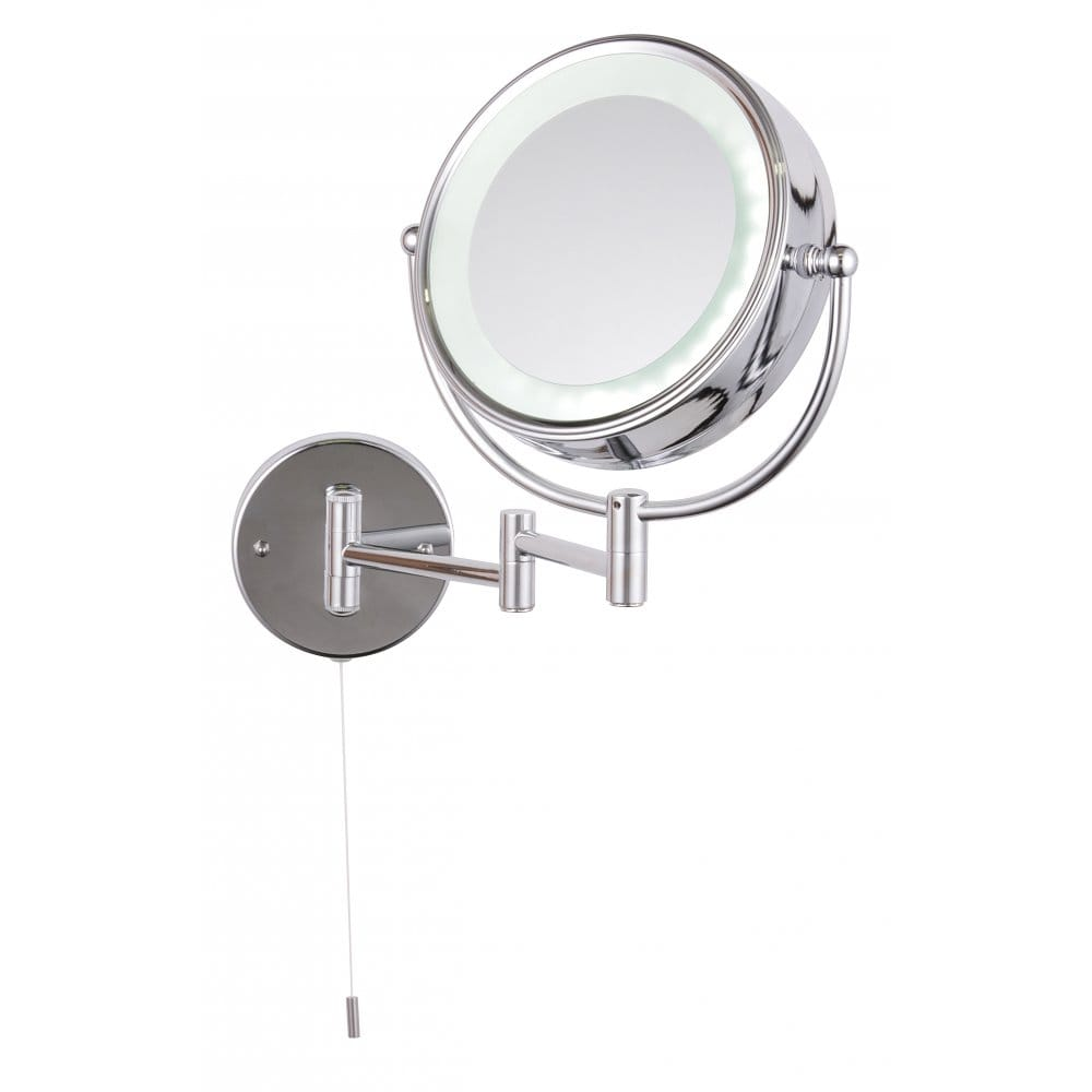 Forum lighting apus adjustable switched led circular Polished chrome bathroom mirrors