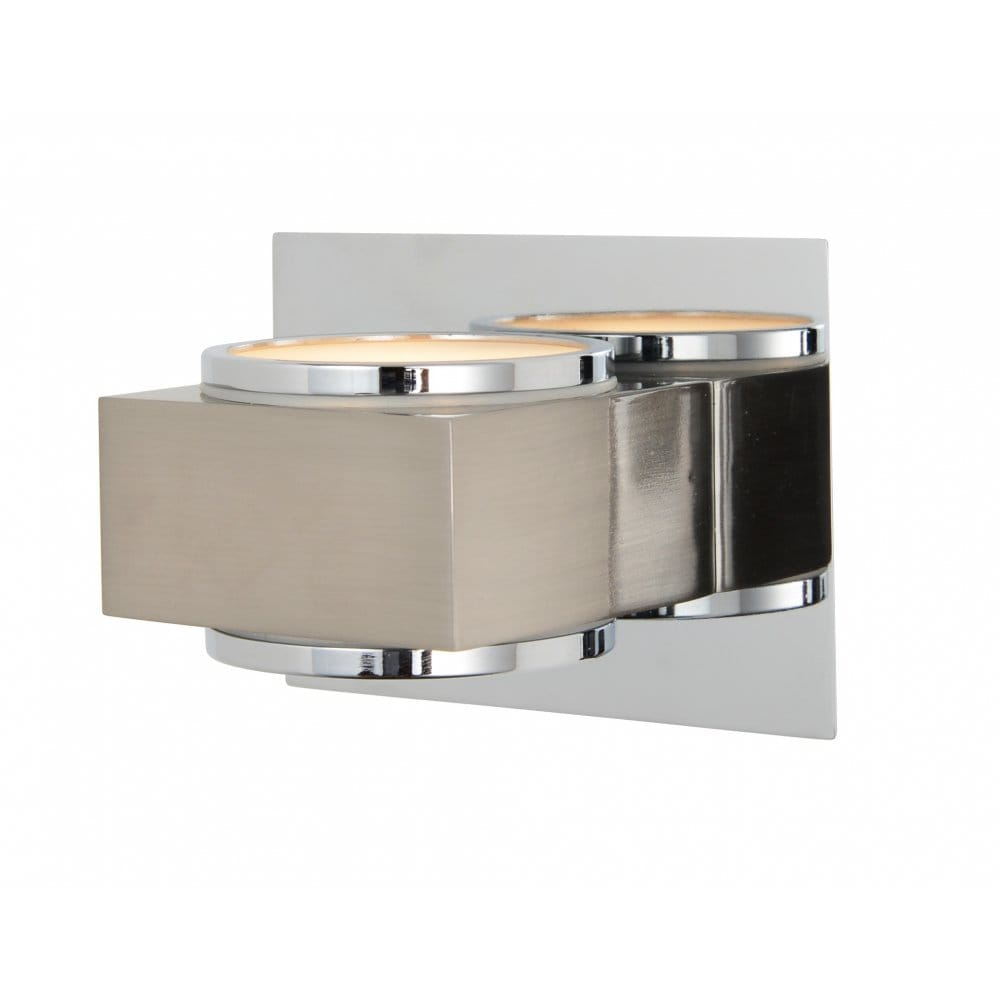 Forum Lighting Indus Single Light Up and Down Wall Fixture in Polished Chrome and Satin Nickel ...