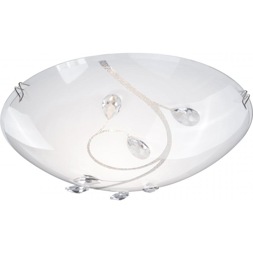 globo lighting burgundy single light flush ceiling in matt nickel with glass decoration globo. Black Bedroom Furniture Sets. Home Design Ideas