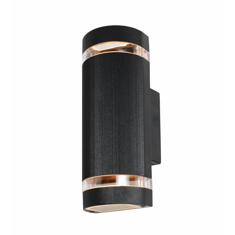 Forum Lighting ZN-20927-BLK Helios 2 Light Up and Down External Wall Fitting in a Black Finish ...