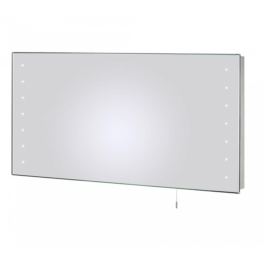 Dar lighting diamond led large rectangular bathroom mirror for Large rectangular bathroom mirrors