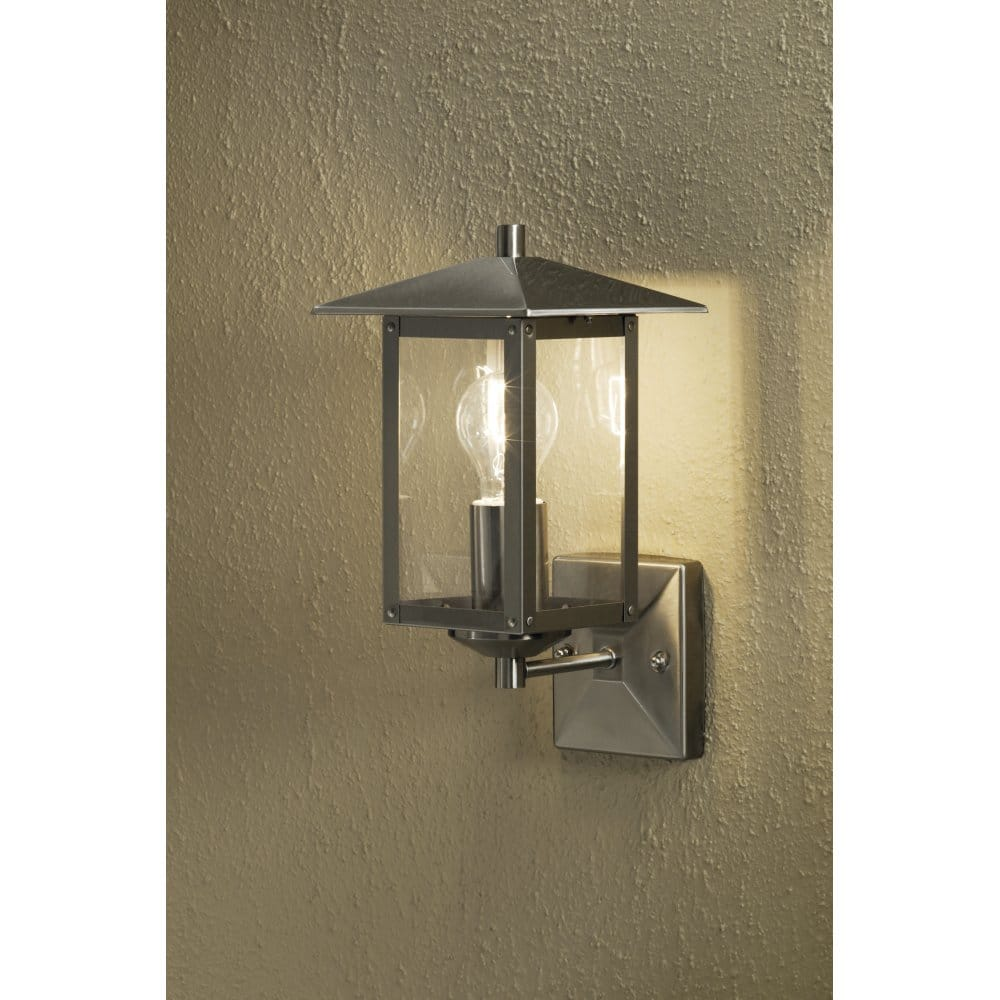 Konstsmide Sorrento Single Light Outdoor Wall Light In Stainless Steel Konstsmide From