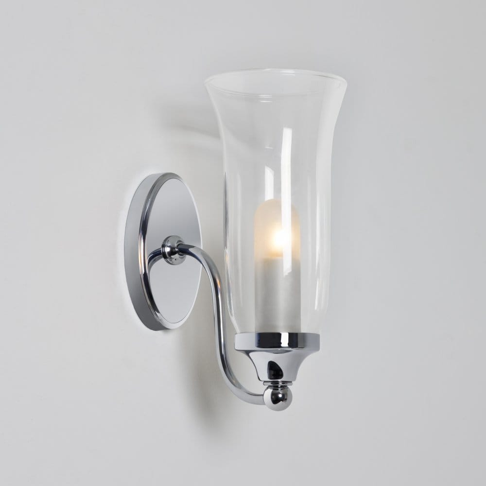 Halogen Bathroom Wall Sconces : Astro Lighting Biarritz Single Light Halogen Bathroom Wall Fitting In Polished Chrome Finish ...