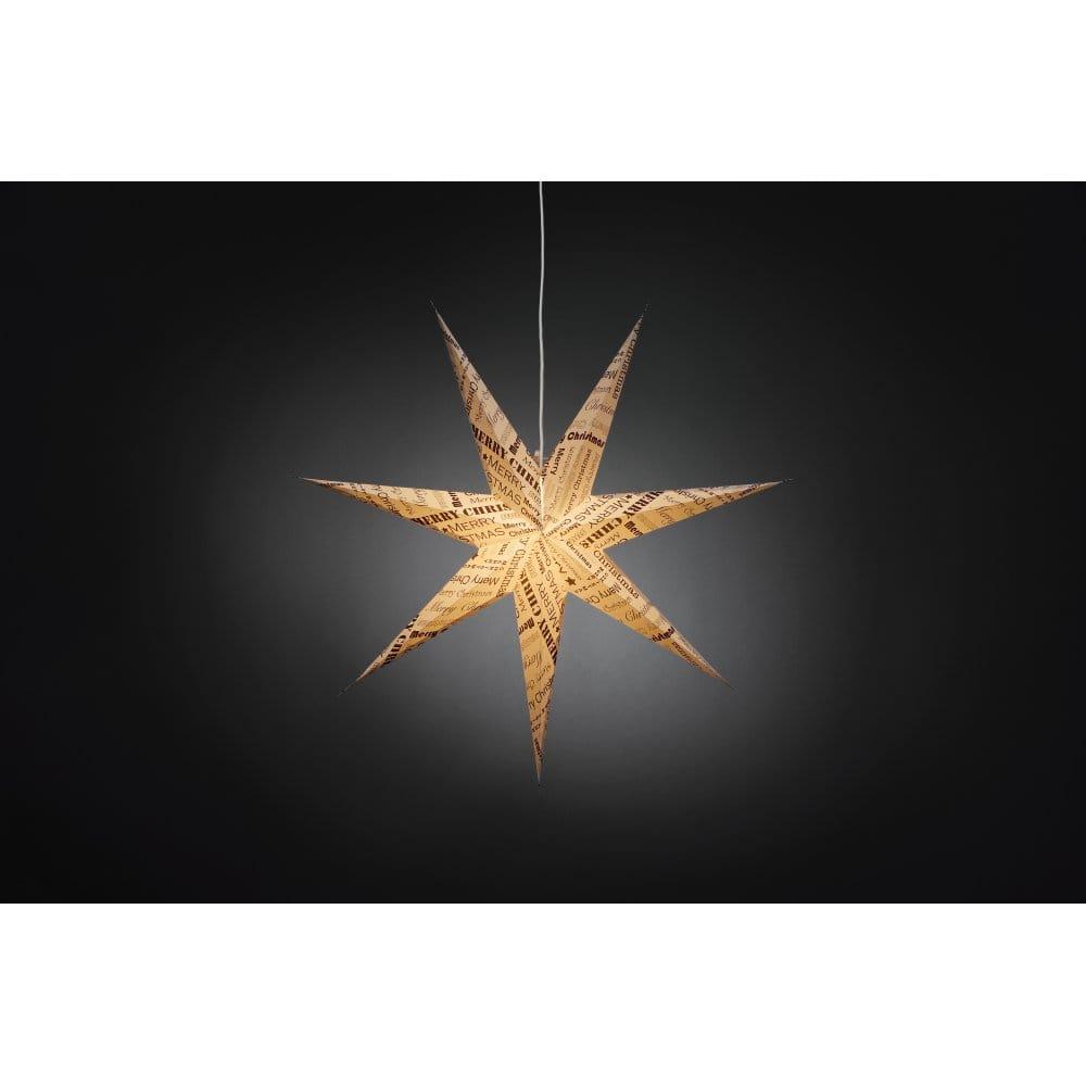 Konstsmide Merry Christmas Hanging Illuminated Paper Star