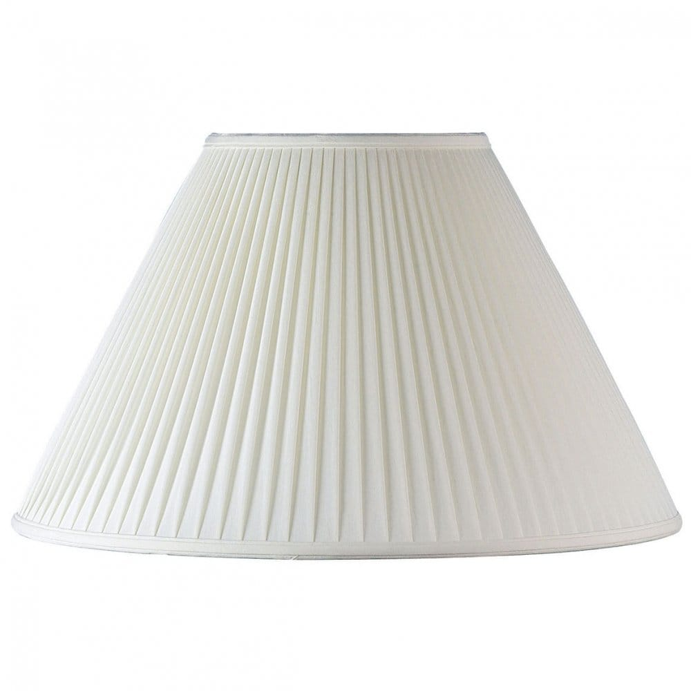 Endon lighting chloe 18 inch ivory pleated fabric shade for 18 inch window blinds