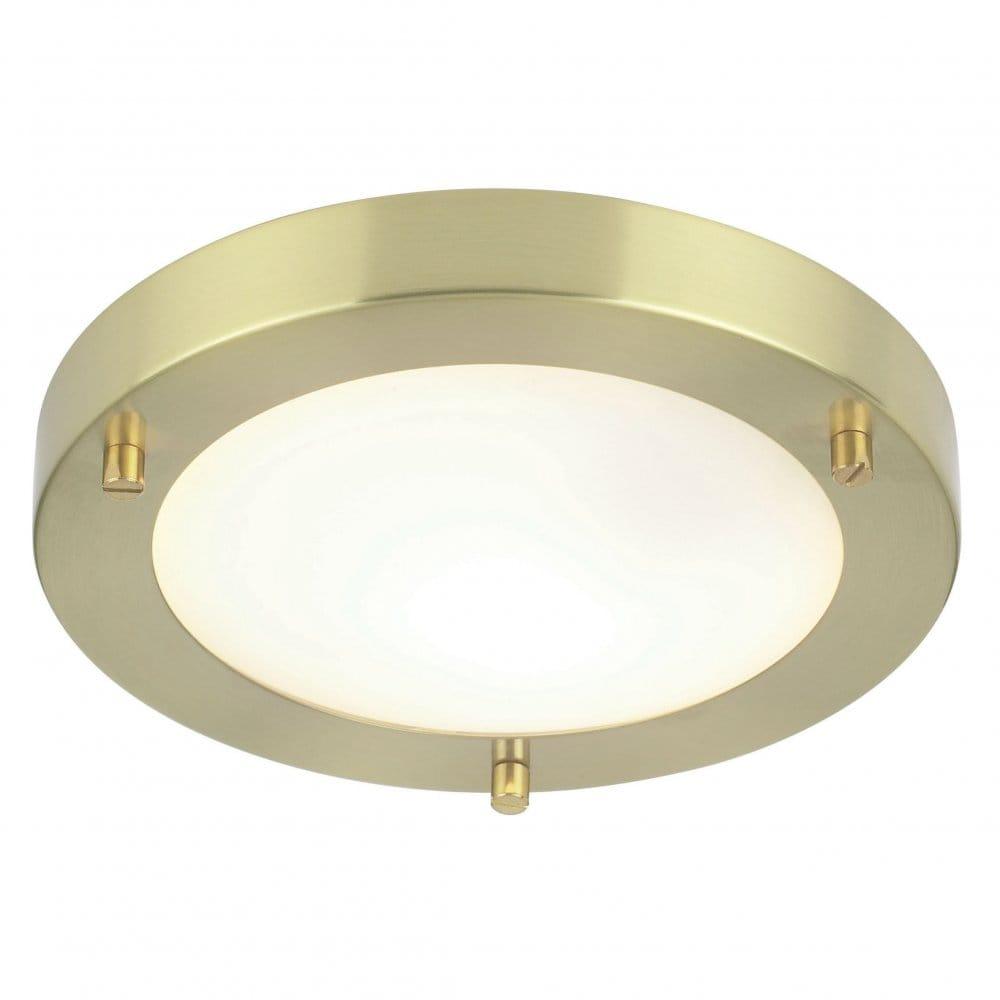 Halogen Ceiling Lights For Bathrooms: Endon Lighting Enluce Single Light Halogen Flush Bathroom