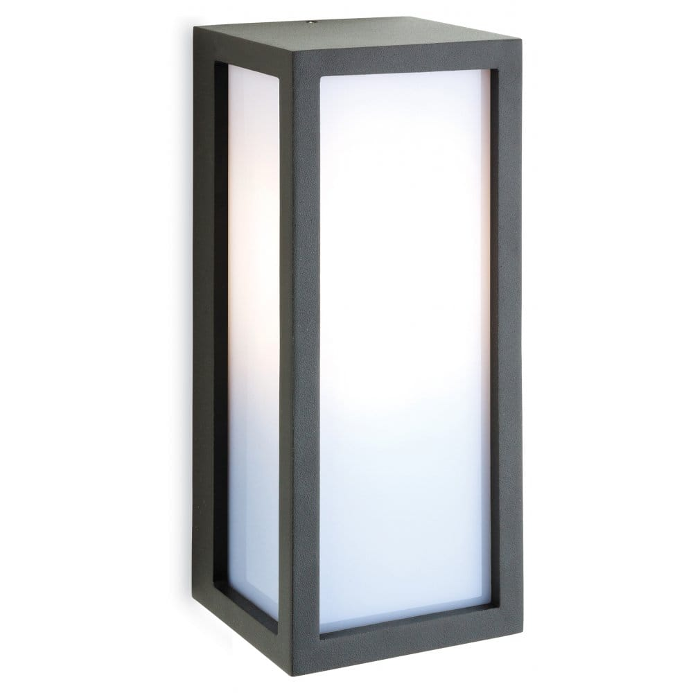 Low Energy External Wall Lights : Firstlight Warwick Single Light Graphite Grey Outdoor Wall Fitting with Low Energy Lamp ...
