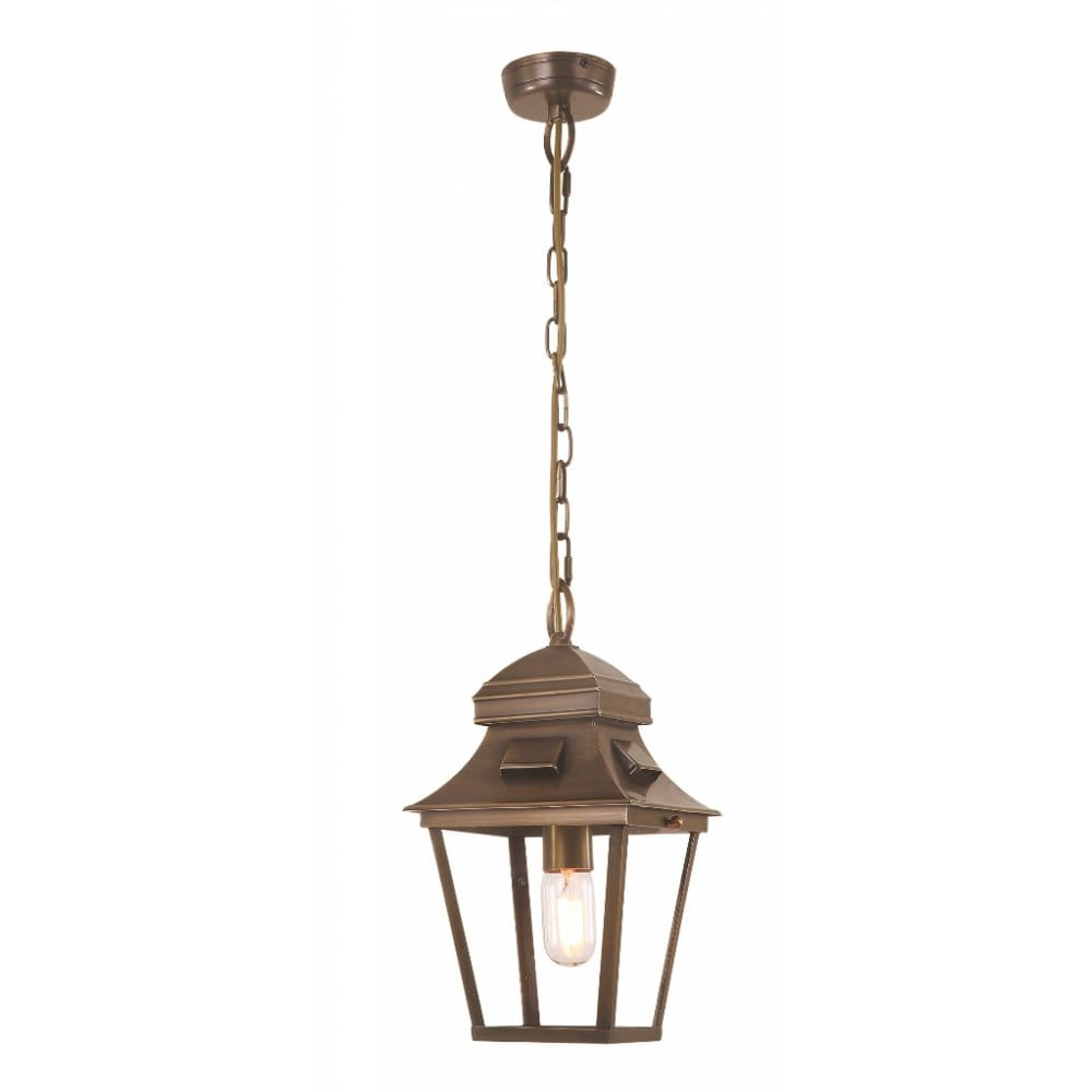 Antique Outdoor Pendant Lighting : Elstead lighting st pauls single light cast brass outdoor
