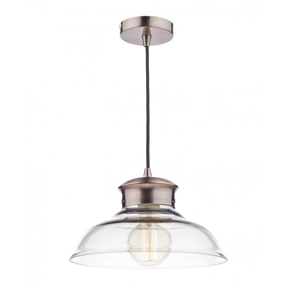 Rocamar Copper And Glass Single Pendant: Dar Lighting Siren Single Light Ceiling Pendant In Copper