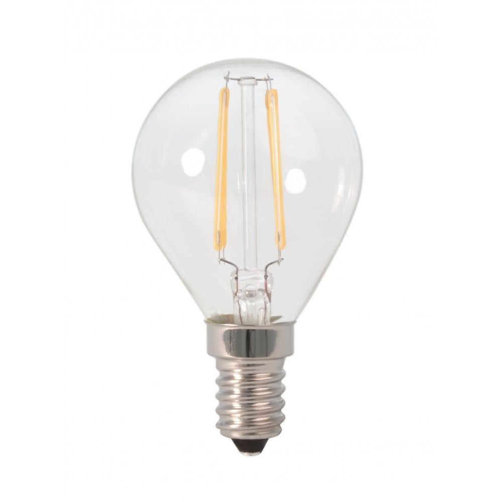 Dar Lighting Vintage Style 3w Golf Ball Led Bulb With E14 Ses Type Socket Dar Lighting From