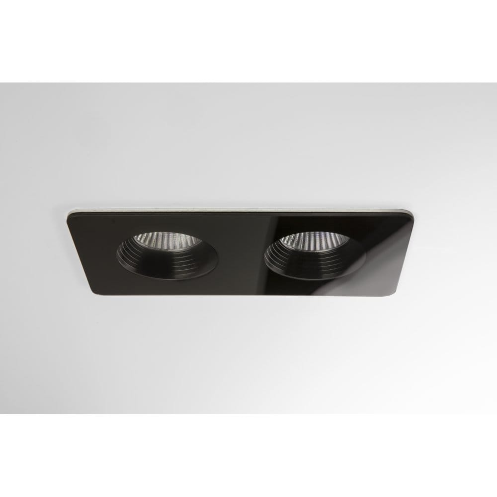 Black Finish Bathroom Lighting: Astro Lighting Vetro Twin 2 Light LED Recessed Bathroom