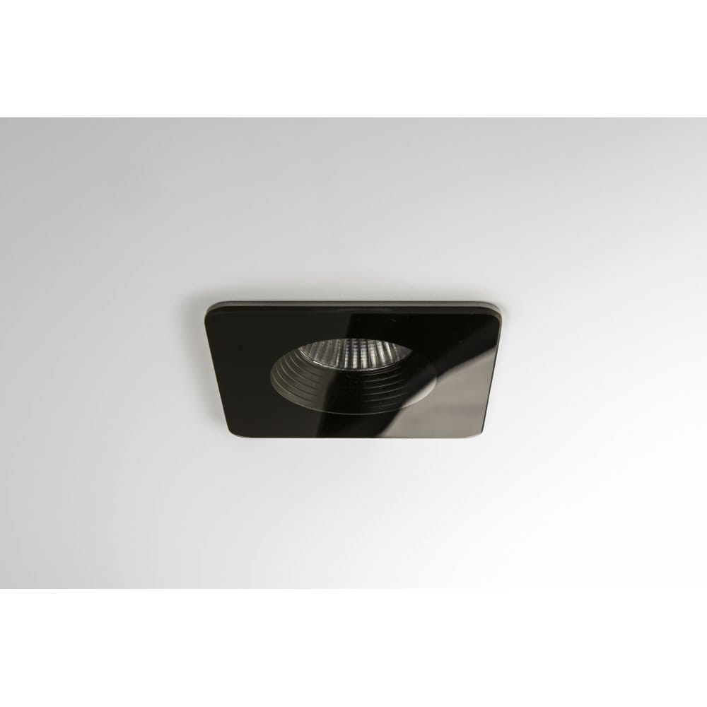 Black Finish Bathroom Lighting: Astro Lighting Vetro Single Light LED Square Recessed
