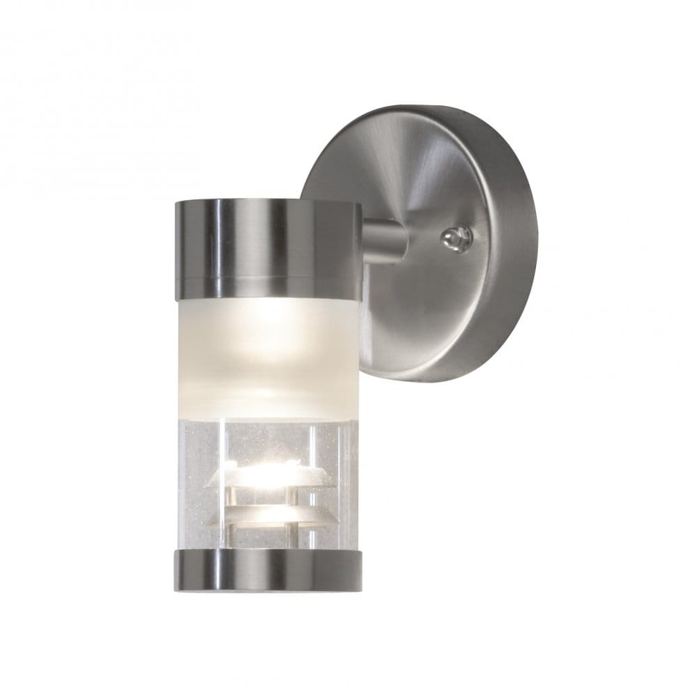 Konstsmide Bolzano Single Light External Wall Fitting With Glass and Stainless Steel ...