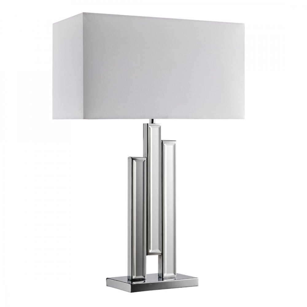 Searchlight lighting mirror table single light table lamp for Table column