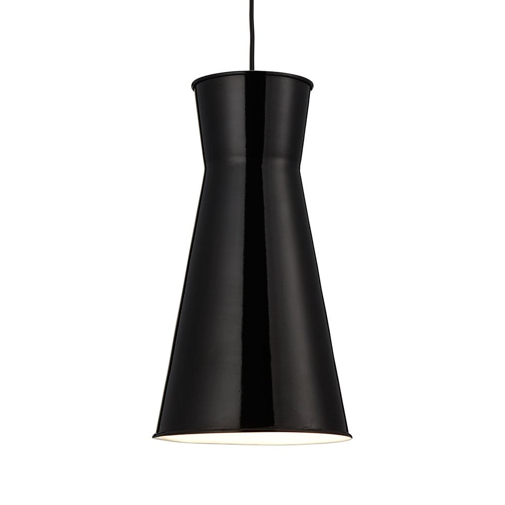 Searchlight Lighting Diablo Single Light Ceiling Pendant With Black Metal Sha