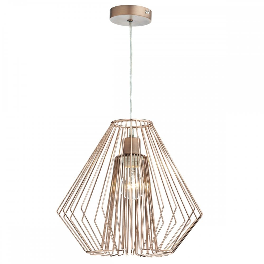 Ceiling Lights In Copper : Dar lighting needle easy fit ceiling light pendant shade