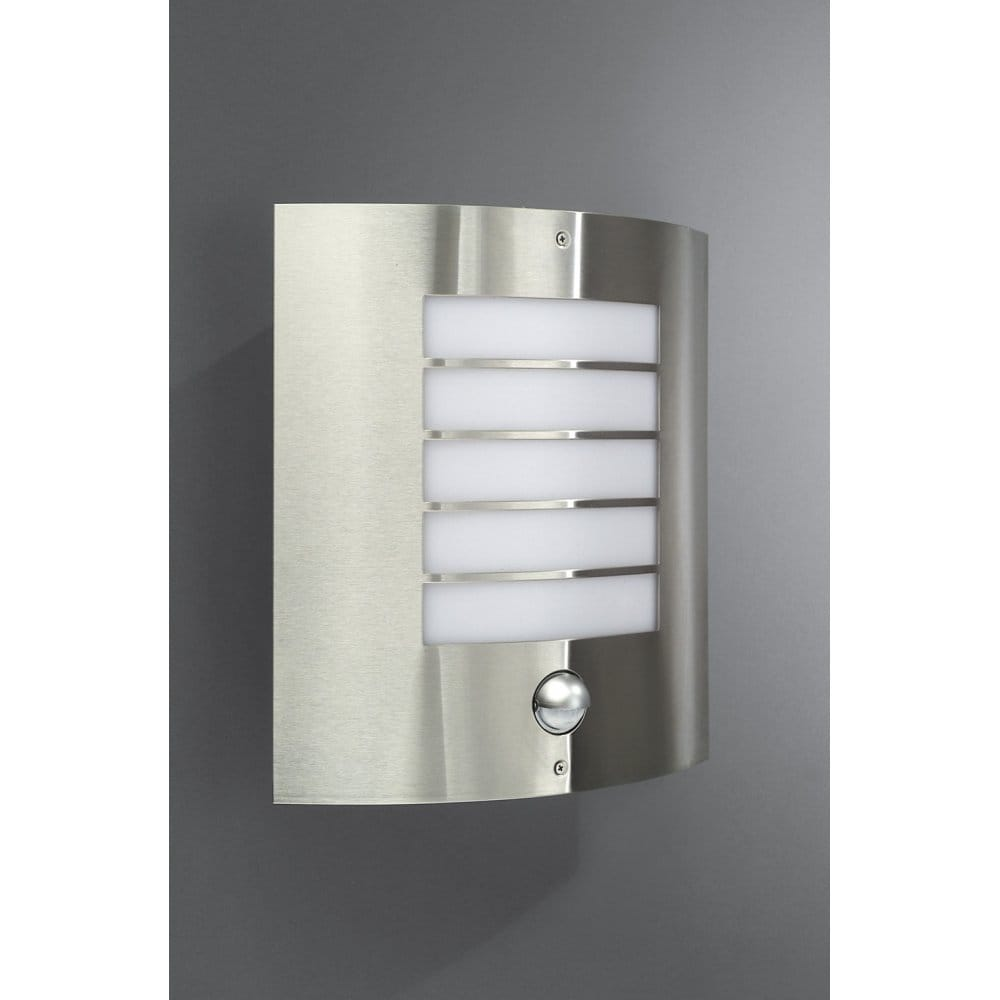 Philips Wall Lights Catalogue : Philips Oslo Single Light Stainless Steel Outdoor Wall Light with PIR - Philips from Castlegate ...