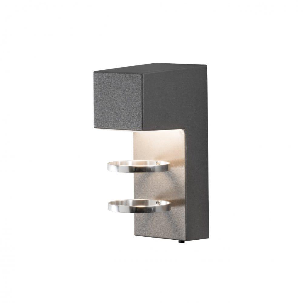 Led Outdoor Light Fittings: Konstsmide Acerra Single Light LED Outdoor Wall Fitting In