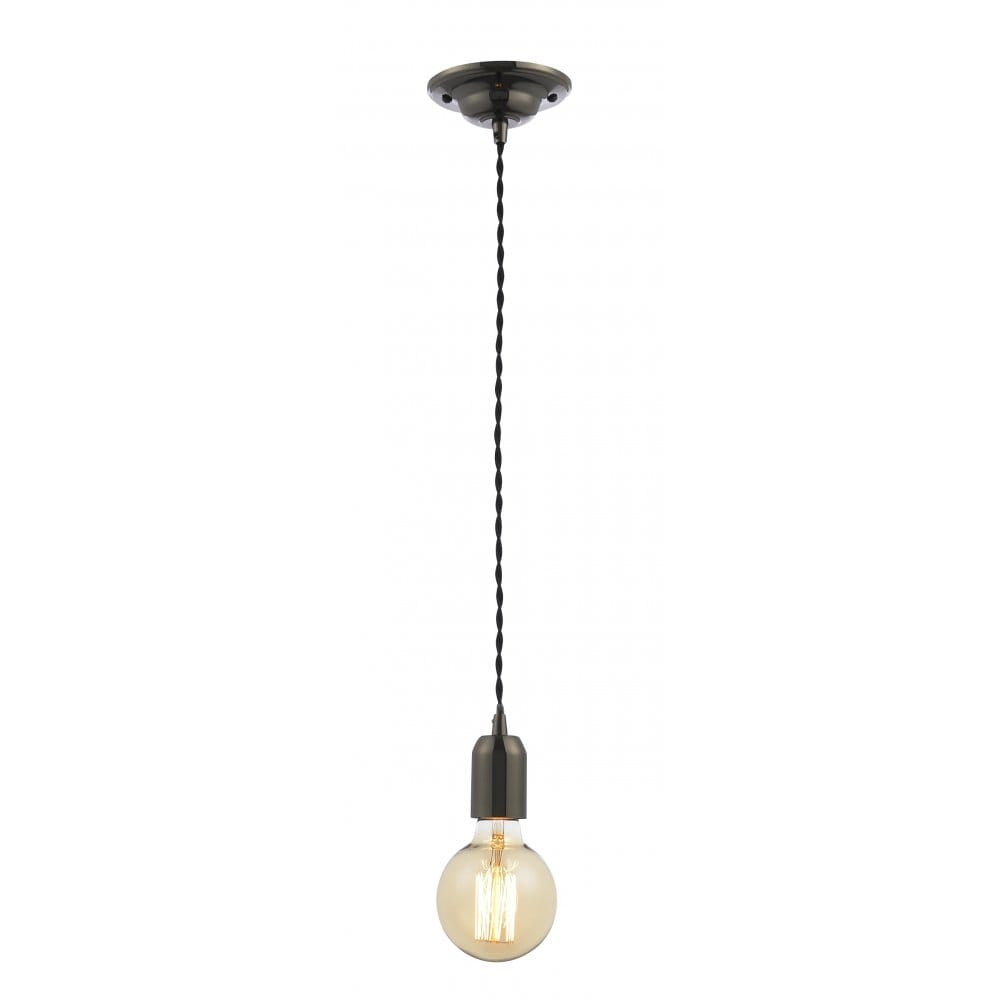 Wickes Kitchen Pendant Lights: Forum Lighting Single Light Black Nickel Suspension Set