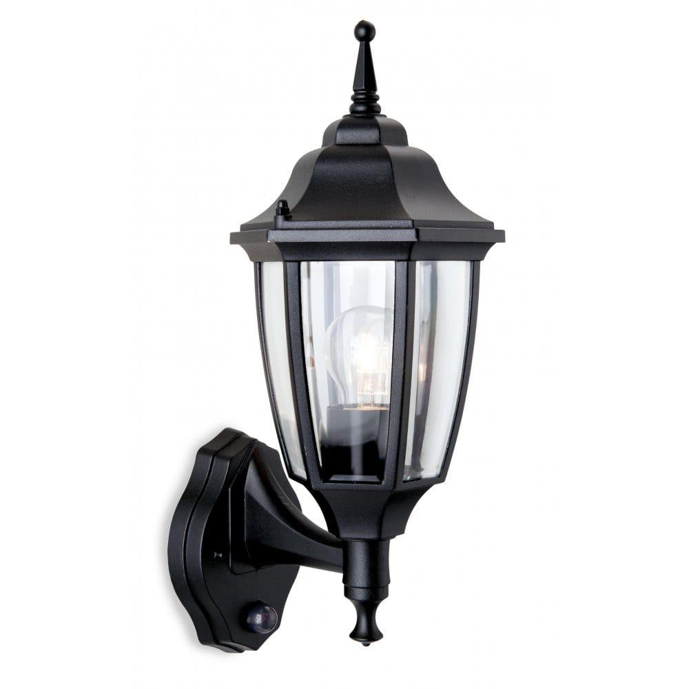 Firstlight Faro Single Light Outdoor Wall Lantern in Black with PIR - Firstlight from Castlegate ...