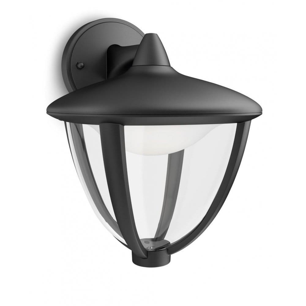 Led Outdoor Light Fittings: Philips Robin Single Light LED Outdoor Wall Fitting In