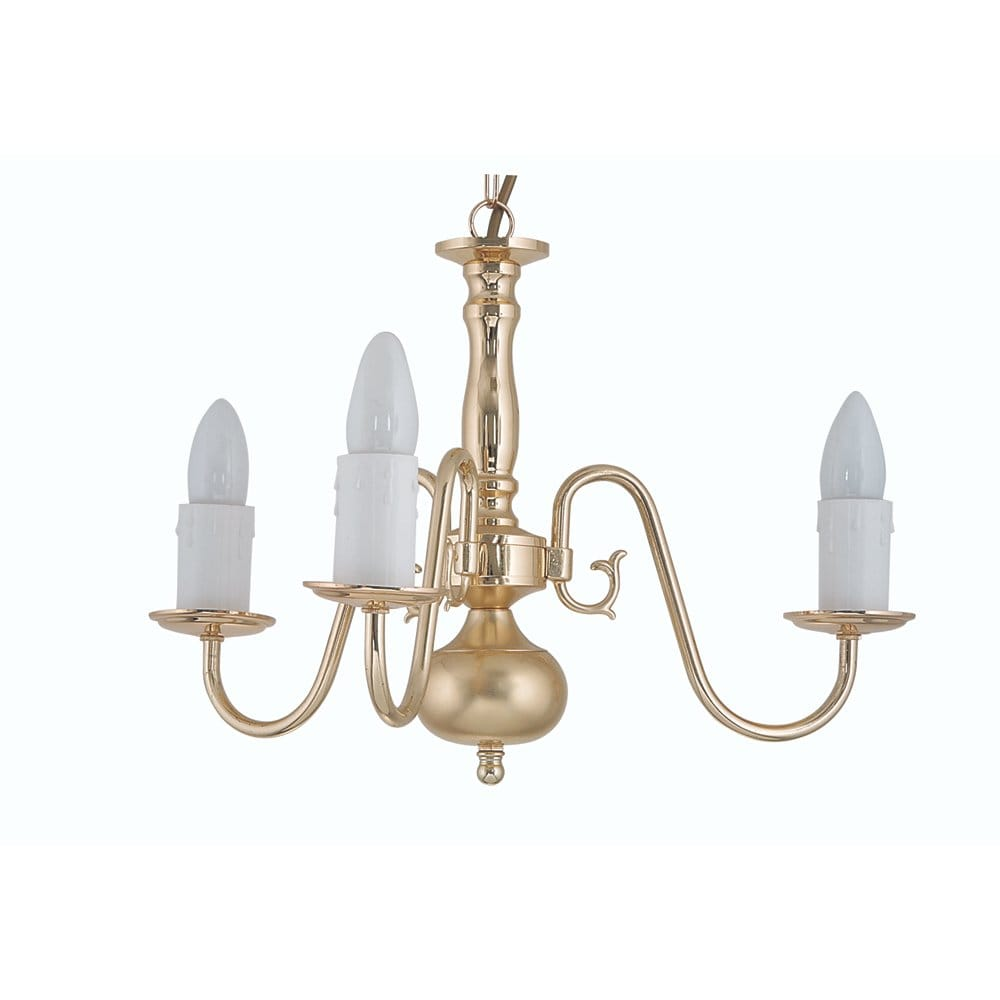 Brass Chandelier Ceiling Lights : Oaks lighting flemish light ceiling multi arm chandelier