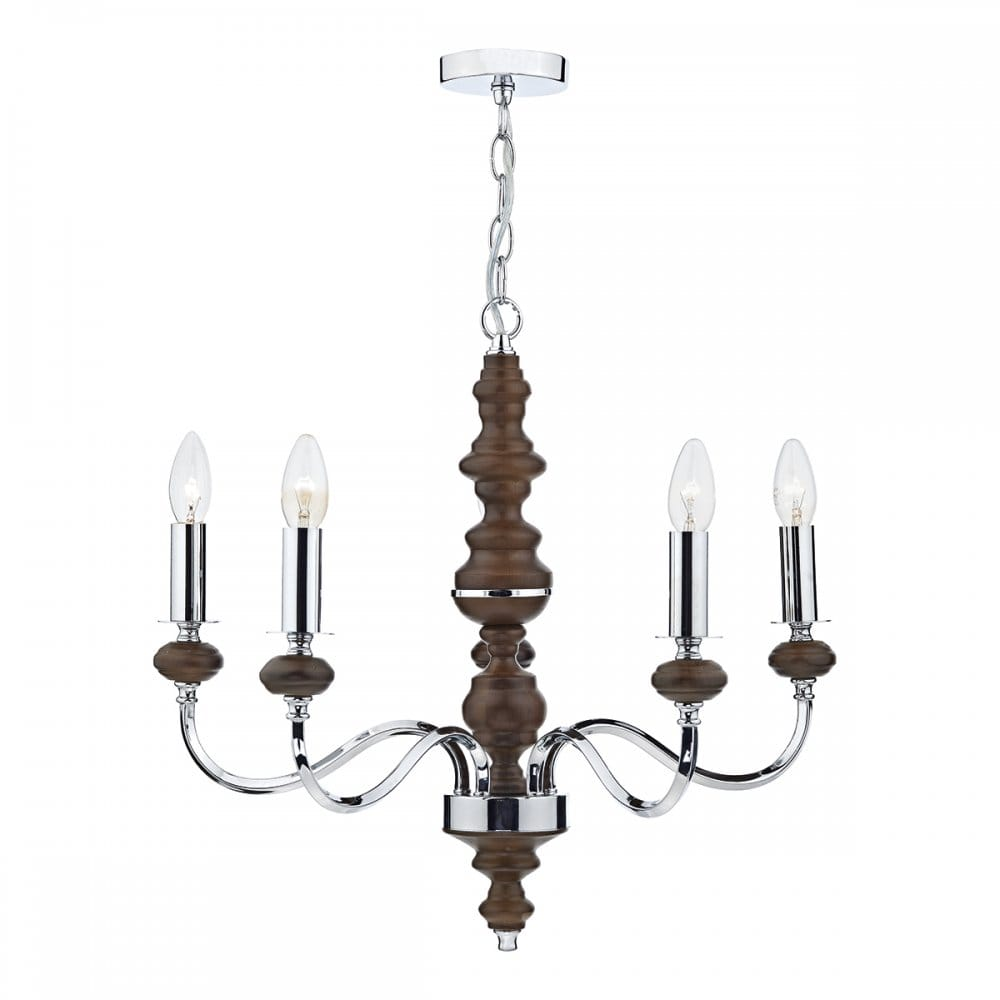 dar lighting wyatt 5 light ceiling pendant in polished