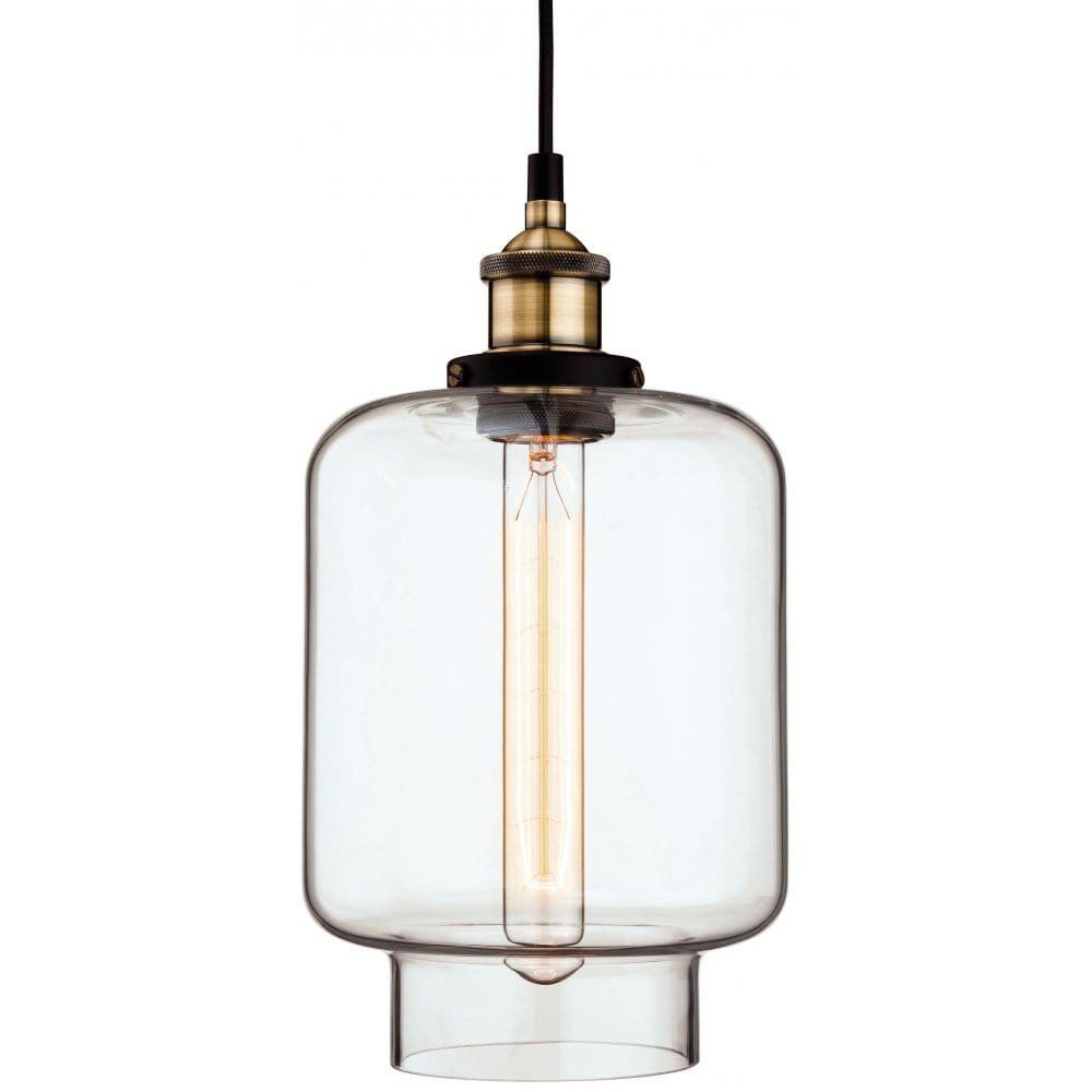 Brass Finish Ceiling Lights : Firstlight empire single light ceiling pendant in antique