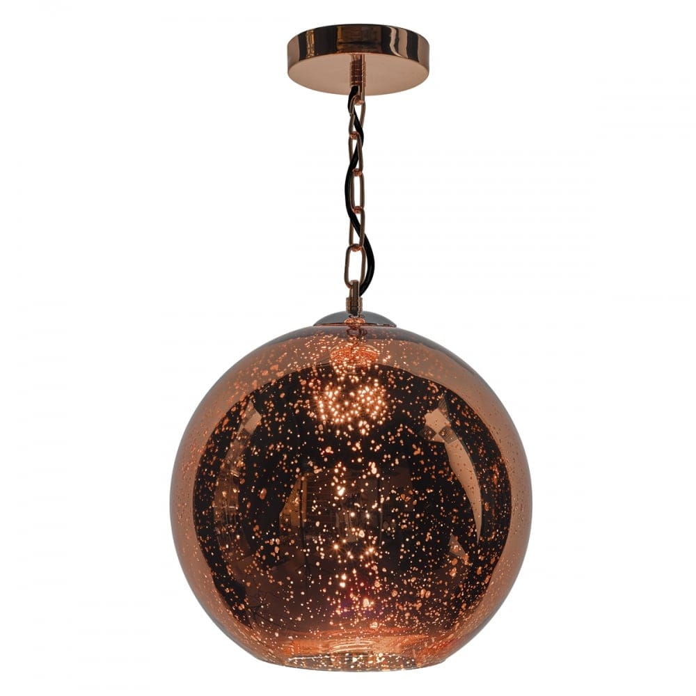 Dar Lighting Speckle Single Light Ceiling Pendant In