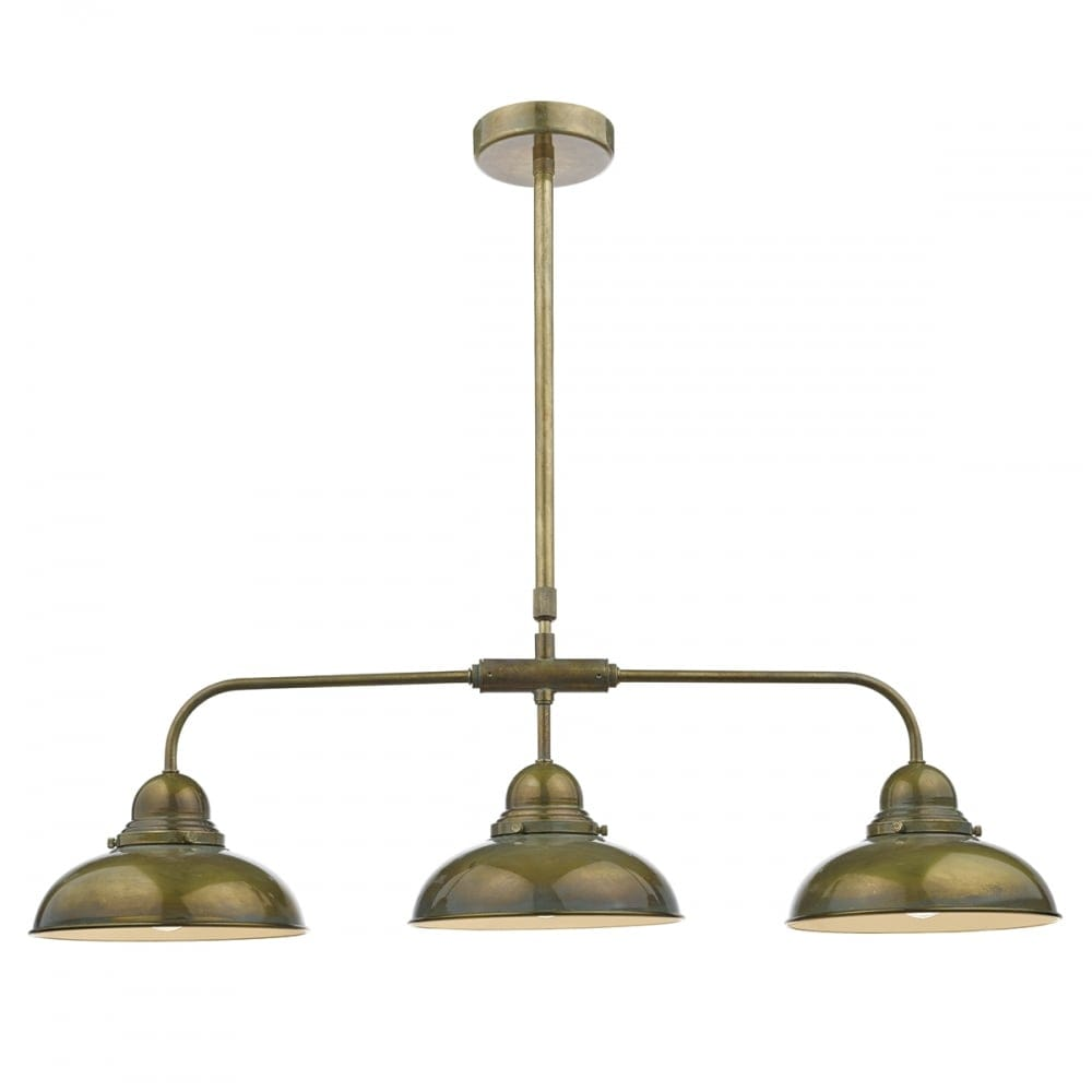 Commercial Kitchen Ceiling Lights: Dar Lighting Dynamo 3 Light Ceiling Bar Pendant In Aged