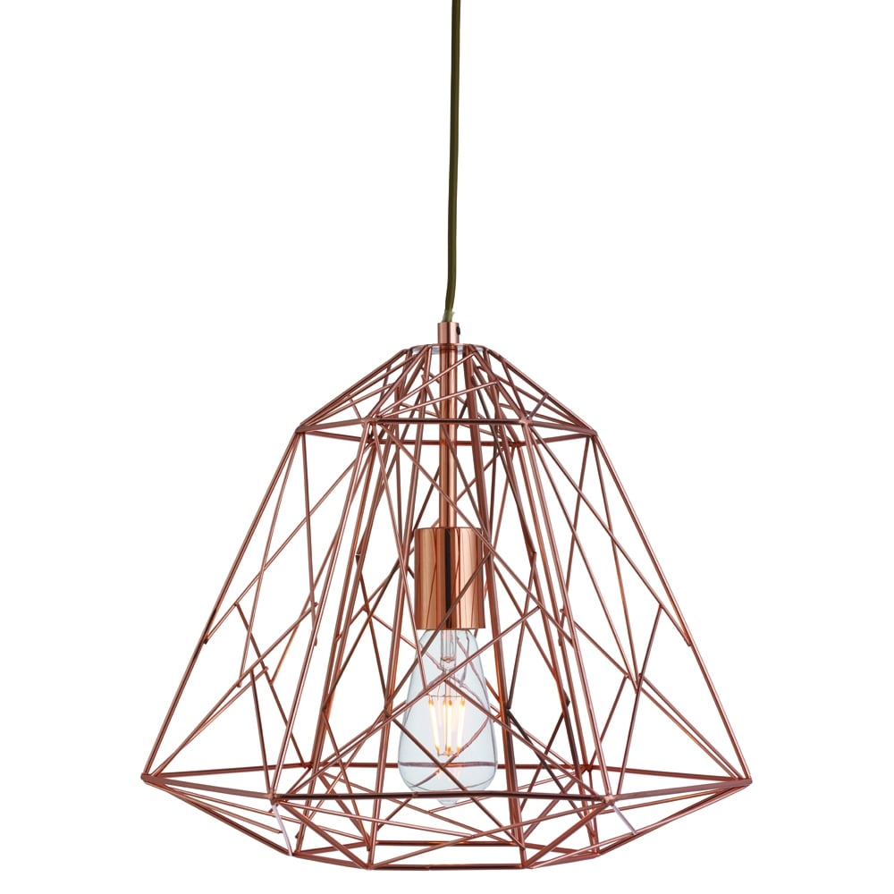searchlight lighting single light copper geometric cage