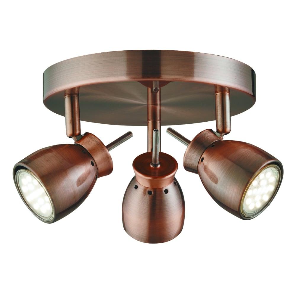 Kitchen Garden Jupiters: Searchlight Lighting Jupiter LED 3 Light Ceiling Spotlight