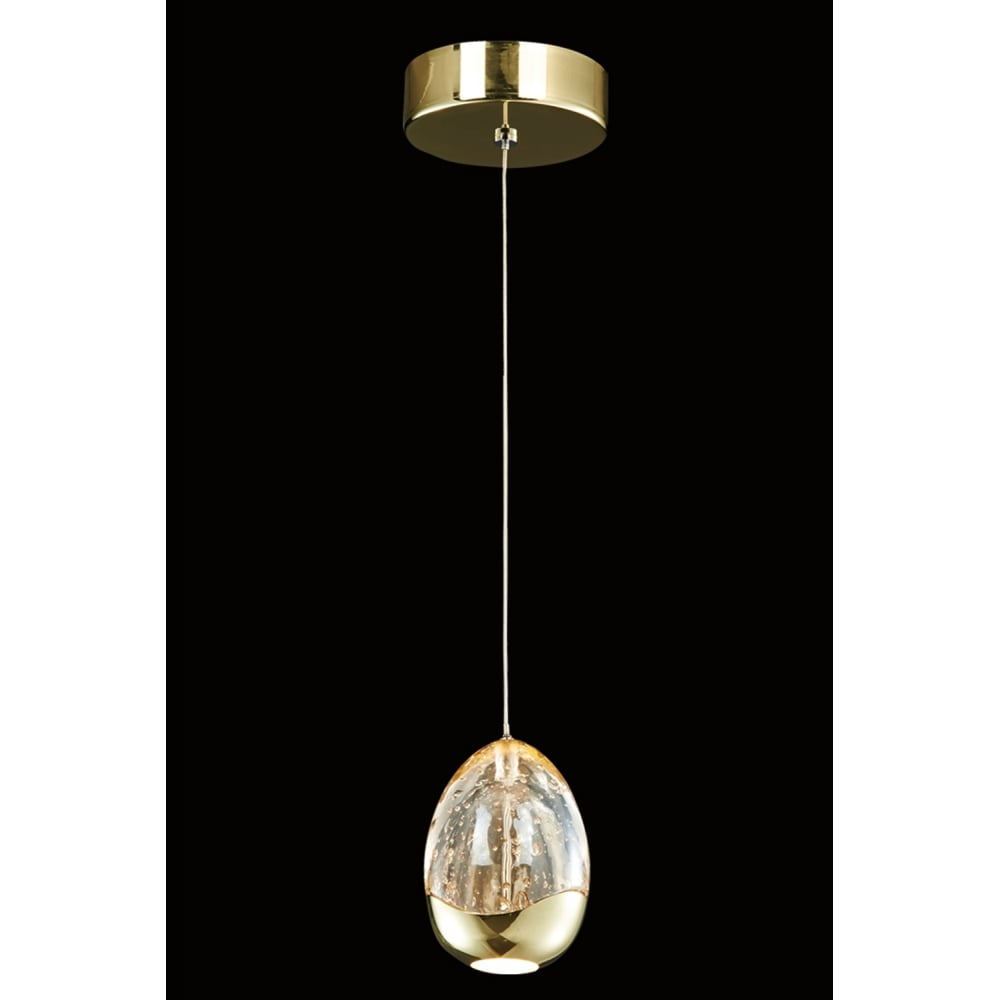 Led Ceiling Lights Gold: Illuminati Terrene Single Light LED Ceiling Pendant In