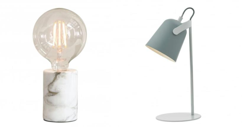 Scandinavian lighting, scandi style lights, scandi table lamps