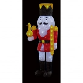 1 metre Acrylic Nutcracker Soldier with 120 White LED's
