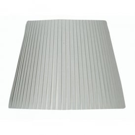 10 Inch Pencil Pleat Fabric Shade in Soft Grey